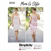 8639 Simplicity Pattern: Misses' Knit Dress in Two Lengths
